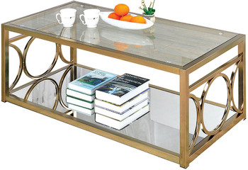 Giovanna Gold Coffee Table
