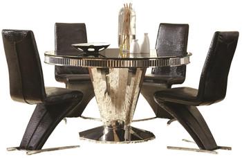 Stella Mirrored 5-PC Dining Set