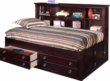 Kate Espresso Twin Daybed With Storage