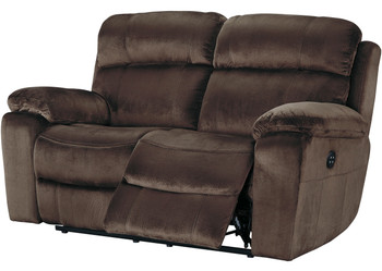 Jaise Brown Reclining Loveseat