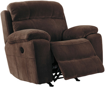 Jaise Brown Recliner with Adjustable Headrest