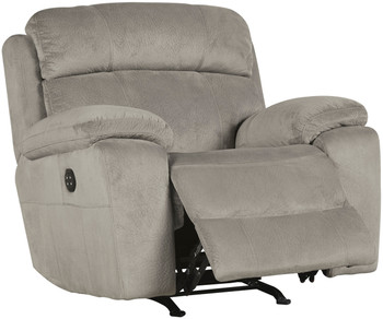 Jaise Gray Recliner with Adjustable Headrest