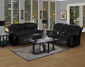 Greta Black Livingroom Set
