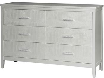 Rianni Silver Dresser & Mirror