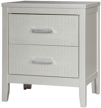 Rianni Silver Night Stand