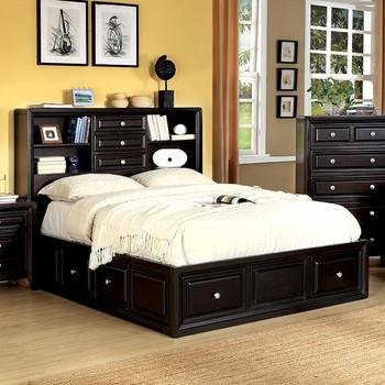 Cristofer Espresso Platform E. King Bed