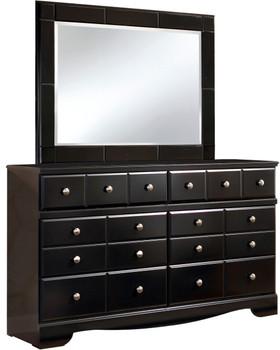Dominic Black Dresser & Mirror