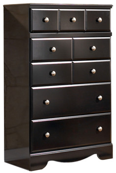 Dominic Black 5-Drawer Chest
