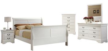 Lafayette White Dresser & Mirror