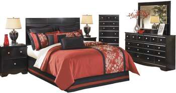 Dominic Black Panel Bedroom Set
