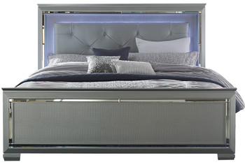 Annie Silver Lighted Bedroom Set