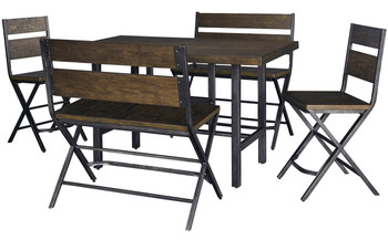 Favle 5 Piece Bench Counter Set