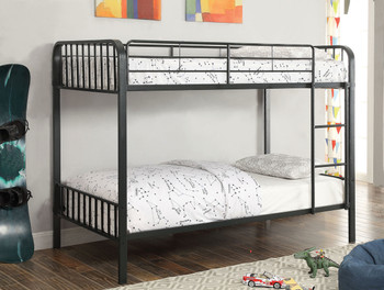 Archer Black Twin/Twin Bunk Bed