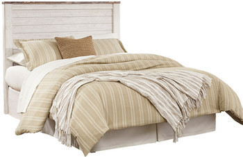 Cresthill White Headboard Bed
