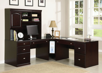 Baruch L-Shaped Desk with Hutch