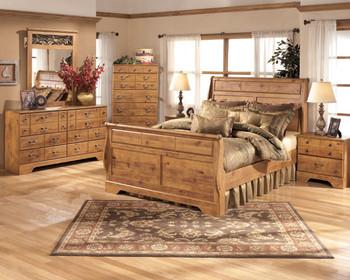 Barrowhill Pine Sleigh Bedroom Set