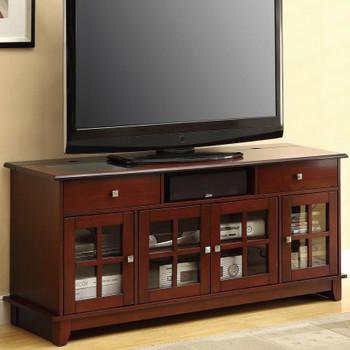 Novia Brown Cherry TV Console w/Power Surge