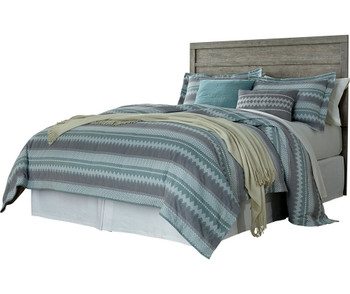 Kuebec Gray Headboard Bed