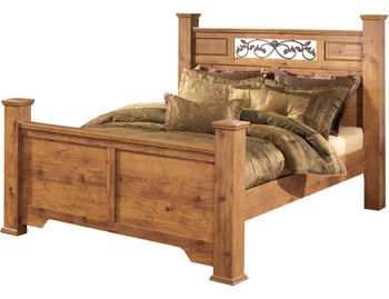 Barrowhill Pine Poster Bedroom Set