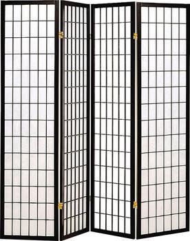 Samson Black Four-Panel Divider