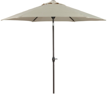 Dan Beige Outdoor Med Umbrella with Base
