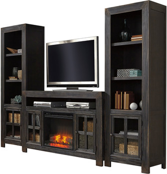 Corpus 4 Piece Wall Unit with Fireplace