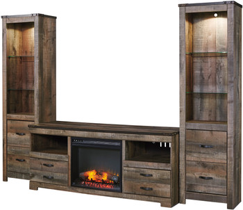 Benni 4 Piece Wall Unit With Fireplace
