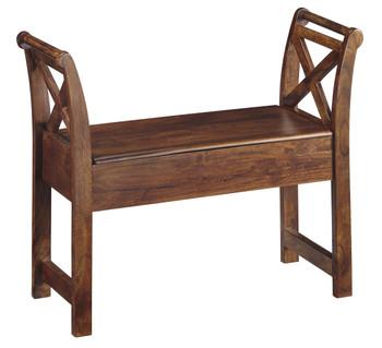 Arandel Warm Brown Accent Bench