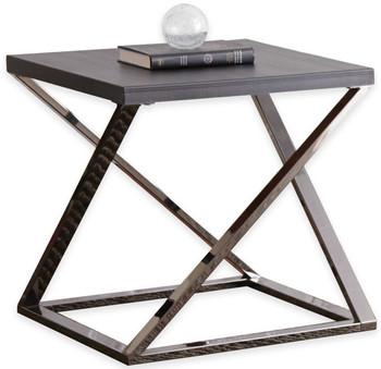 Bronx Black Nickel End Table