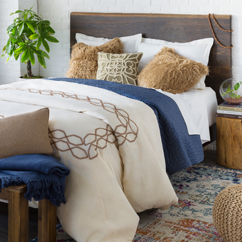 Merilin Brown Designer Pillow