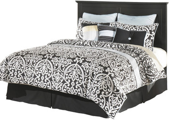 Lucia Black Headboard Bed