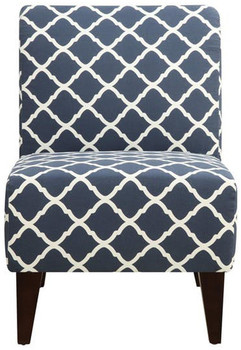 Amie Blue Accent Chair