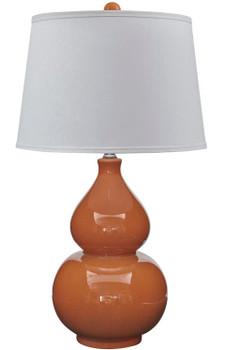 Acelynn Orange Ceramic Table Lamp