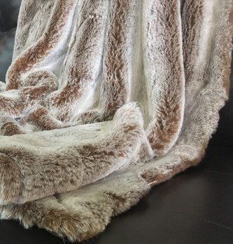 Light Brown Shaggy Designer Throw