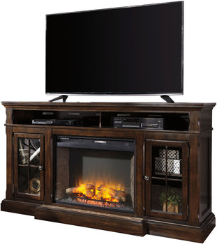 "Oxford 72"" Wide TV Stand with Fireplace"