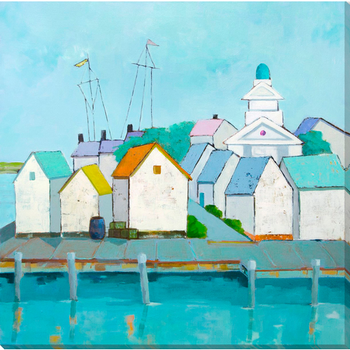 "Carsyn At The Harbor 18"" x 18"" Wall Art"