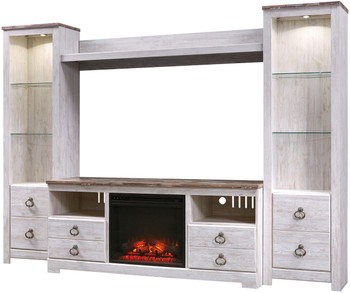 Cresthill 4 Piece Wall Unit with Fireplace