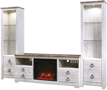 Cresthill 3 Piece Wall Unit with Fireplace