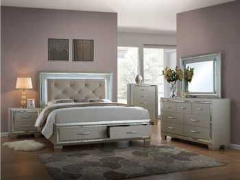 Ronnie Storage Lighted Bedroom