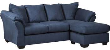 Edeline Royal Blue Sofa Chaise
