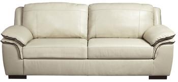 Damon Cream Top-Grain Leather Sofa