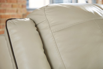 Damon Cream Top-Grain Leather Loveseat