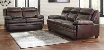 Bolade Top-Grain Leather Loveseat