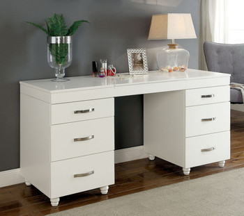 Sancia Vanity Desk with LED Mirror/USB Port