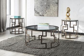 Addi Dark Bronze 3-PC End Tables