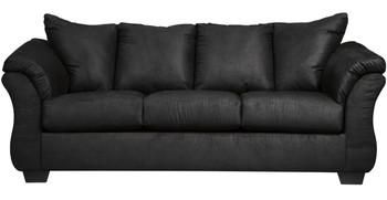 Edeline Black Plush Sofa