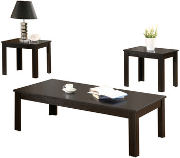 Ionna Black 3-Pc Table Set