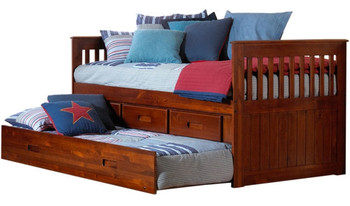 Baycreek Merlot Trundle Bed with Drawers