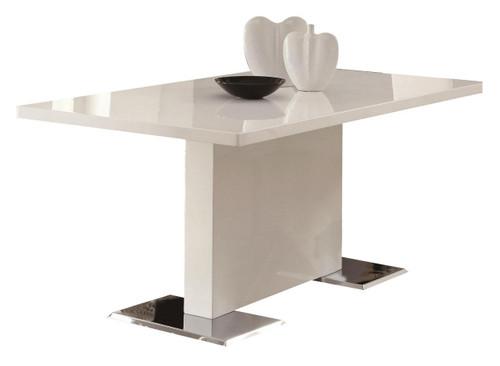 Lexan White Modern Dining Table