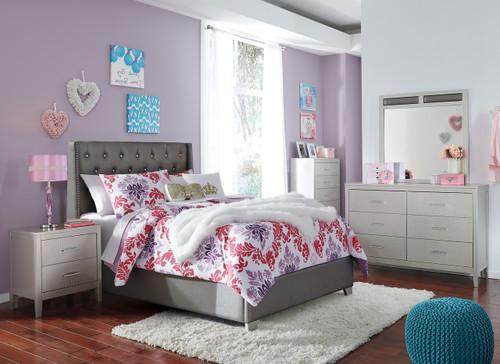 Elena Full Gray Bedroom Set